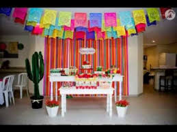 Mexican Themed Decorations Great Mexican Party Decorating Ideas Youtube