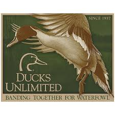 ducks unlimited pintail waterfowl hunting tin sign vintage style