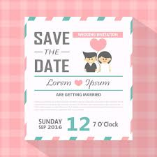 Save The Date Invitation Modern Save The Date Invitation Card Vector Free Download