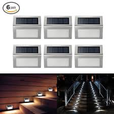 Step Lights Led Outdoor Exterior Solar Stair Lighting