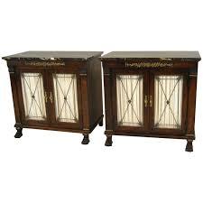 ralph lauren metal mirrors made by henredon pair of new st laurent empire style marble top double door