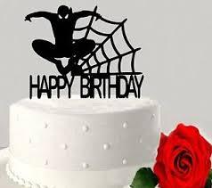 Spiderman Acrylic Cake Topper Superhero Boys Happy Birthday Party