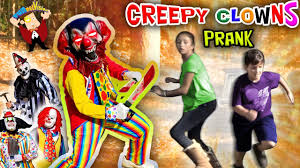 halloween store usa 4 scary killer clowns in the woods on halloween mean dad pranks