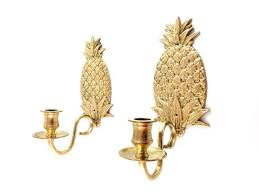 Pineapple Sconce Vintage Brass Pineapple Sconces Gold Sconces
