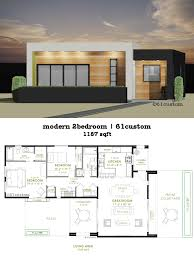 modern 2 bedroom house plan 61custom contemporary modern