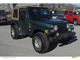 green jeep 2001 forest green jeep wrangler sahara 4x4 57788271 gtcarlot
