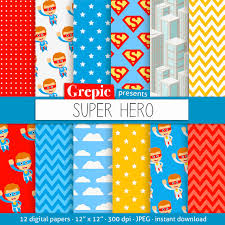 superman wrapping paper sale 50 digital paper with