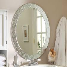 oval bathroom mirror frames vanity decoration