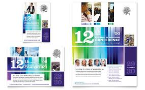 conference brochure templates business leadership conference