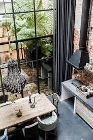 living around an interior patio industrial style in amsterdam estilo industrial casa amsterdam