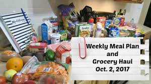 Home Life by Weekly Meal Plan And Grocery Haul Shelly U0027s Home Life Oct 2