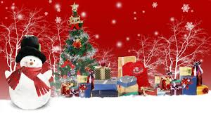 winter snowing christmas whimsical navidad xmas presents red