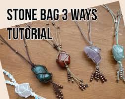 making stone necklace images Macrame stone etsy jpg