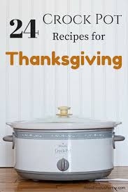 recipes for a crock pot thanksgiving