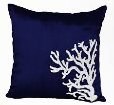 white coral home decor soft blue damask throw pillow 24x24 inches blue pillow cover