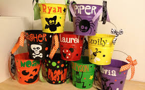 Halloween Bucket Collection Personalized Halloween Basket Pictures Bucket With