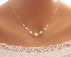 anniversary gifts jewelry pearl necklace sterling silver wedding bridal jewelry