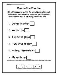 proper punctuation punctuation homework and worksheets