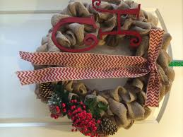 burlap christmas wreath home decor made ez diy home decor