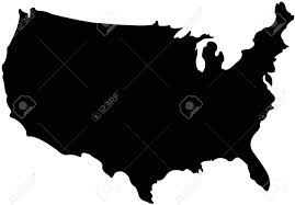 Images Of Usa Map by Usa Map In Silhouette Version Royalty Free Cliparts Vectors And