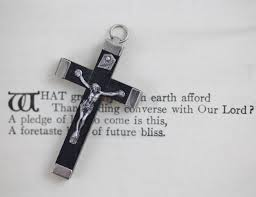 wooden crucifix vintage black wooden crucifix pendant small wood cross with metal