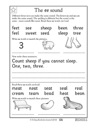 1st grade kindergarten reading writing worksheets vowel sound