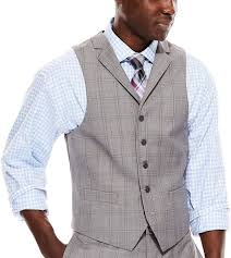 light gray vested suit collection collection by michl strahan light gray plaid suit vest