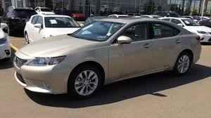 lexus sedan 2014 new gold on parchment 2014 lexus es 300h hybrid navigation