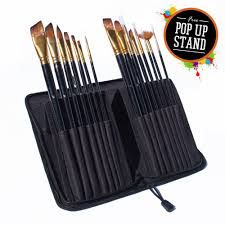 professional artists painting brushes set for oil acrylic painting