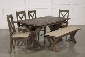 mallard 6 piece extension dining set living spaces