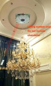Motorized Chandelier Motorized Chandelier Lift System Residential And Commercial