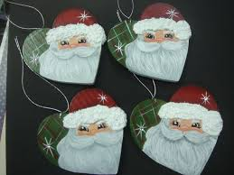 459 best painted santa ornaments images on santa