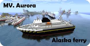 Alaska Ferry Map by Alaska Ferry Pack Mv Aurora 4 Color Schemes Minecraft Project