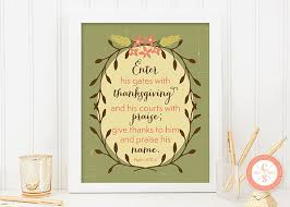 wall print enter his gates with thanksgiving and his courts with