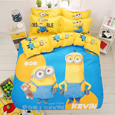 Mickey Duvet Cover Cartoon 3d Minions Bedding Set Despicable Me 2 Hello Kitty Bed