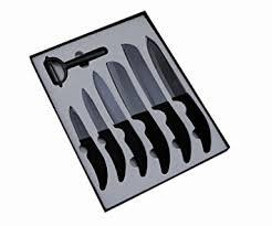 couteau cuisine ceramique pradel excellence sc007 coffret vitrine 6 couteaux de cuisine