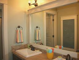 bathroom awesome how to frame bathroom mirror decorating ideas