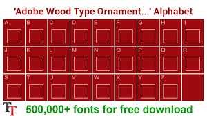 adobe wood type ornaments one font adobe wood type ornaments one