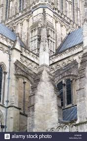 example of a flying buttress architectural feature on salisbury