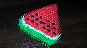 3d origami beginner tutorial 3d origami watermelon for beginners tutorial instructions youtube