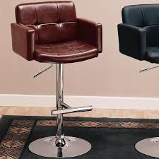 29 Inch Bar Stool Back Faux Leather Contemporary 29 Inch Bar Stool