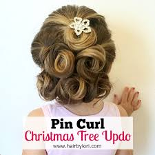 pin curl pin curl christmas tree hair by lori