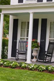 two rockers on front porch plant u0026 flower stock photography