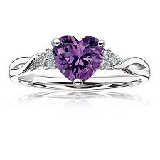amethyst engagement rings ring in sterling silver