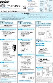 Overhead Door Opener Manual Acsda1 Garage Door Opener Transmitter User Manual Wk4 Page 1 The
