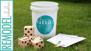 diy wooden dice for yardzee game with free game printables youtube