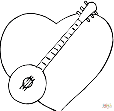 i love banjo music coloring page free printable coloring pages