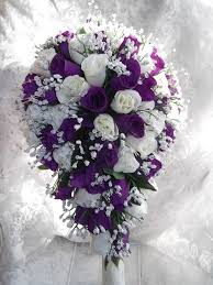 wedding flowers nottingham cadbury purple ivory teardrop bouquet wedding flowers