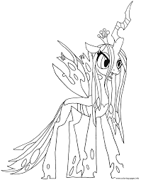 my little pony color book queen chrysalis my little pony coloring pages printable