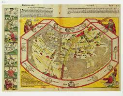 Fau Map Weltkarte Schedel Martin Behaims Erdapfel 1492